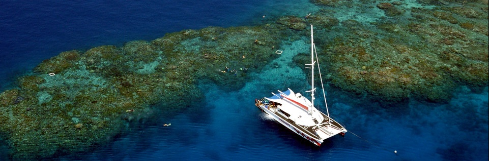 Catamaran Sailing The Great Barrier Reef with Passions Of Paradise