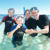 Family At Michaelmas Cay - web