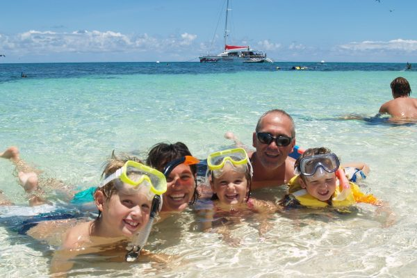family snorkeling cairns reef tour great barrier reef passions of paradise