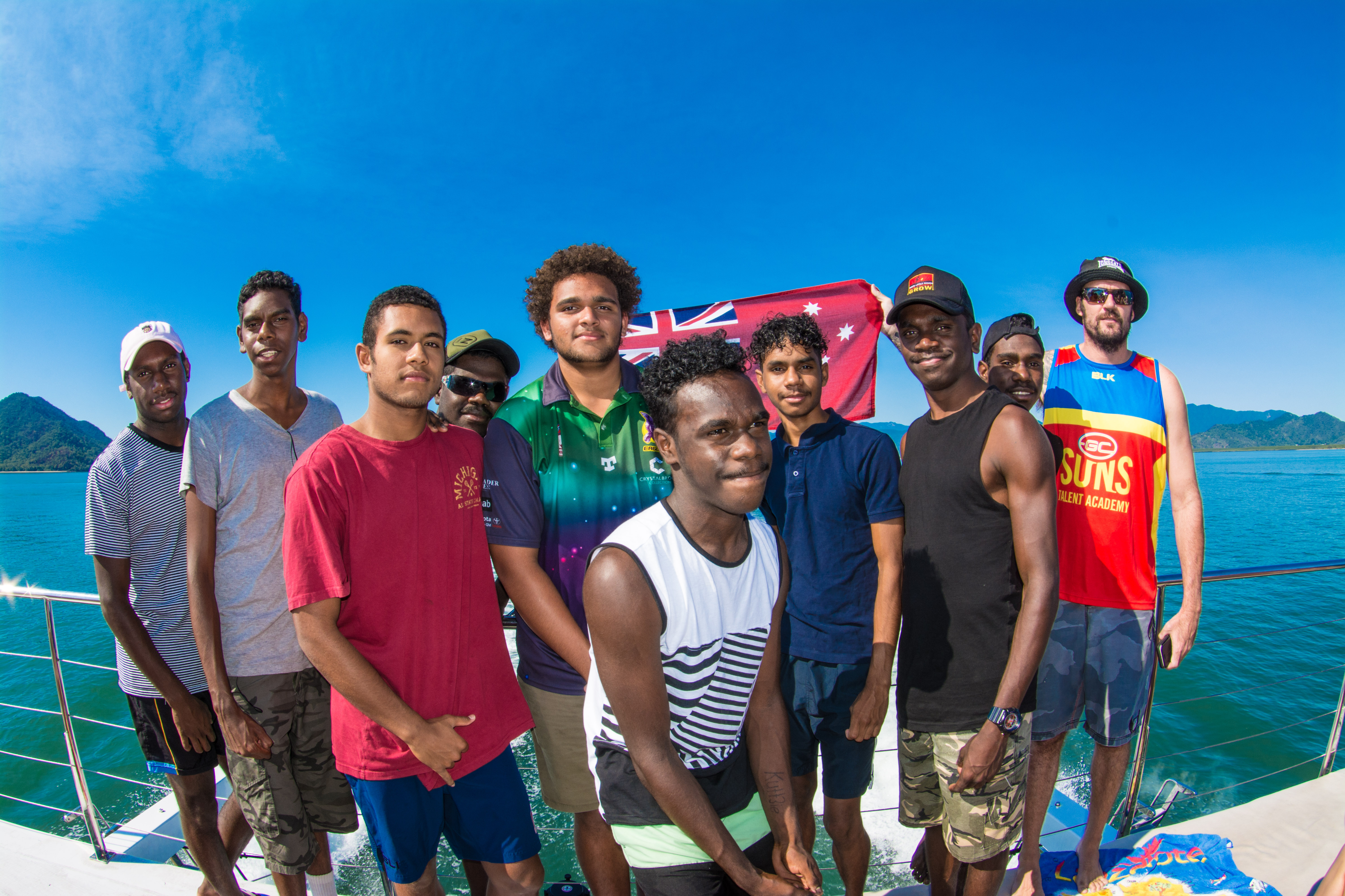 Students from remote TNQ communities come aboard for Passions reef trip