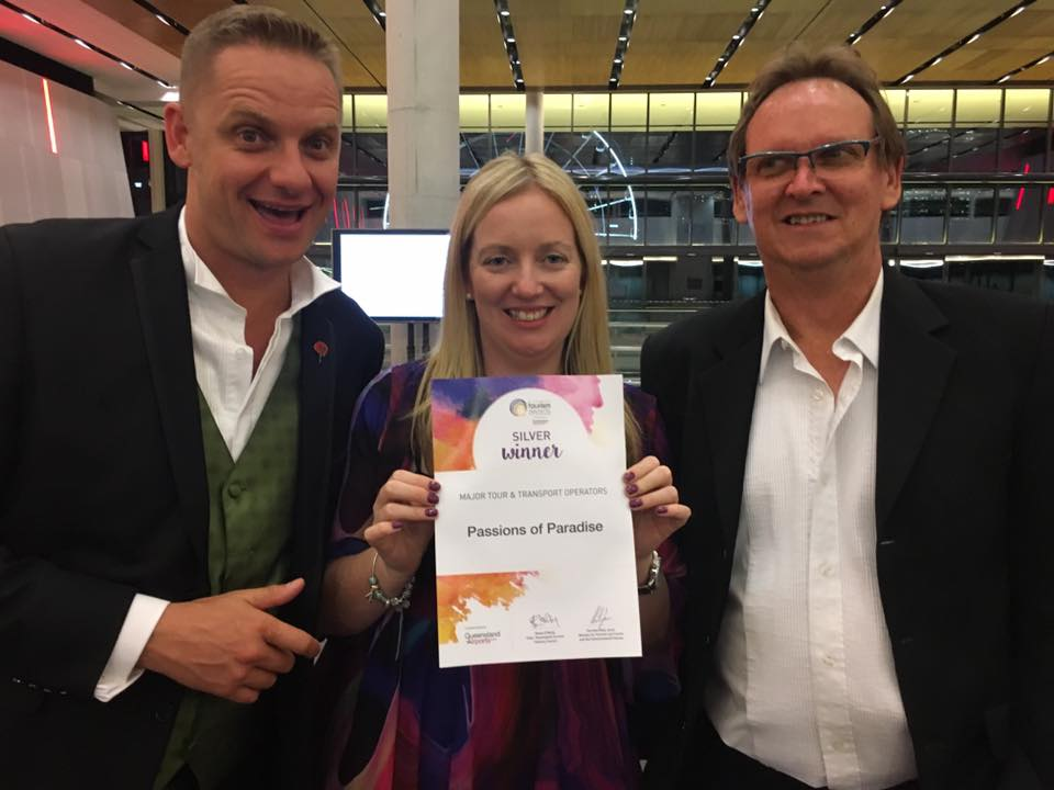 Passions team won silver at the Queensland Tourism Awards!
