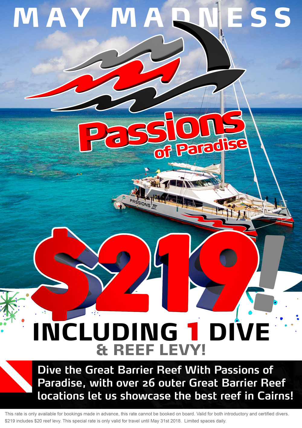 May Madness Dive Special on Passions Great Barrier Reef Tours