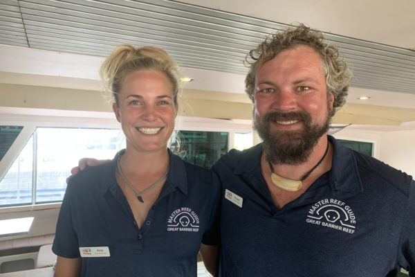 Russell and Kirsty from passions of paradise Coral Nuture Program - Great Barrier reef Cairns